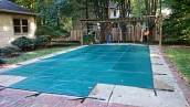 Loop-Loc swimming pool cover installation