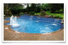 A Designer In Ground Pool Liner Can Be The Spectacular Centerpiece Of Your Backyard Environment Transforming Into Work Art